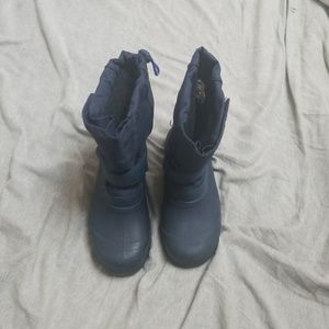 Dark blue winter boots